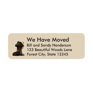 Custom Boot Home We Have Moved Moving Announcement Return Address Label