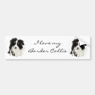 Custom Border Collie - Dog Collection Bumper Sticker
