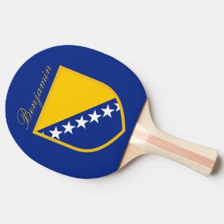 Custom Bosnia Herzegovina Flag Ping Pong Paddle
