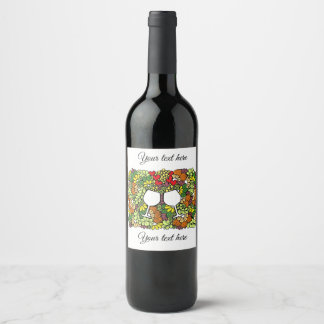 "Custom Bottle Label (4"" x 3.5"") with Toast Doodle"