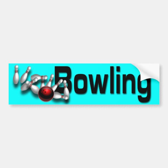 Custom bowling Bumper Stickers