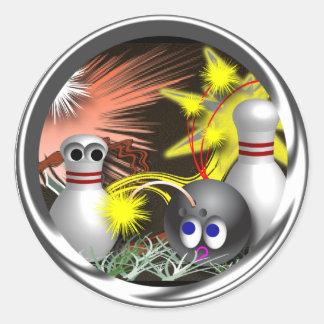 Custom Bowling July 4th Stickers