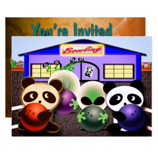 Custom Bowling Party Invitations