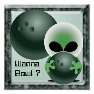 Custom Bowling Posters Gifts