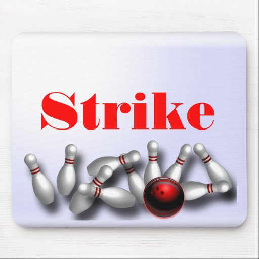 Custom Bowling Strike Computer Gifts Mouse Pads