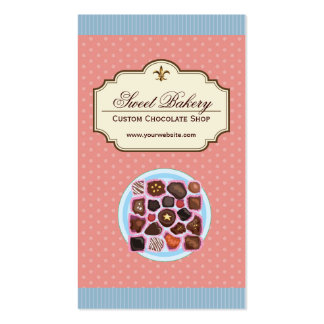 Custom Box of Chocolates Dessert Shop Store Pack Of Standard Business Cards