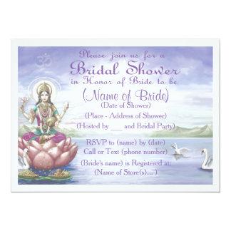 Custom Bridal Shower Invitation Hindu / Yoga style