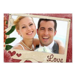 Custom Bride and Groom 13 Cm X 18 Cm Invitation Card