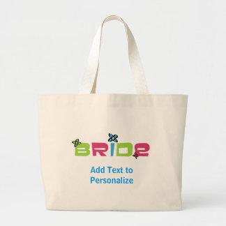 Custom Bride Tote Bag
