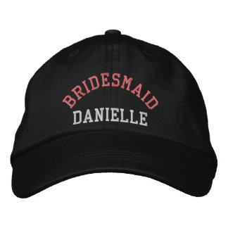 Custom bridesmaid bachelorette pink baseball cap