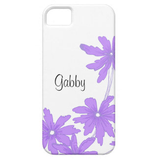 Custom Bright Purple Daisies iPhone 5 Case-Mate