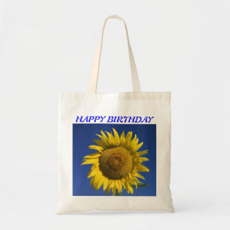 CUSTOM BRIGHT SUNFLOWER TOTE BAGE BUDGET TOTE BAG