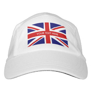 Custom British pride Union Jack flag sports hats