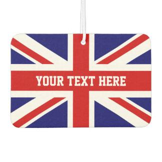 Custom British Union Jack flag car air freshener