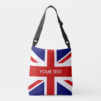 Custom British Union Jack flag cross body bag Tote Bag