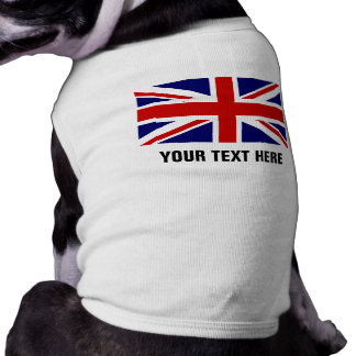 Custom British Union Jack flag pet dog clothing