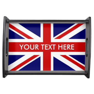 Custom British Union Jack flag serving tray