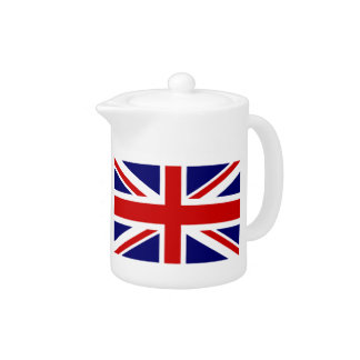 Custom British UNION JACK flag tea pots