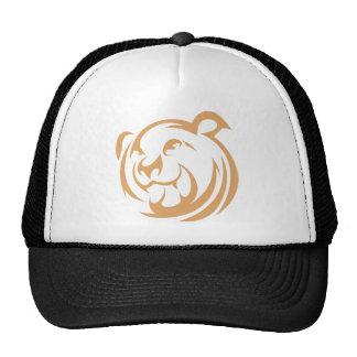 Custom Brown Bear Logo Mesh Hat