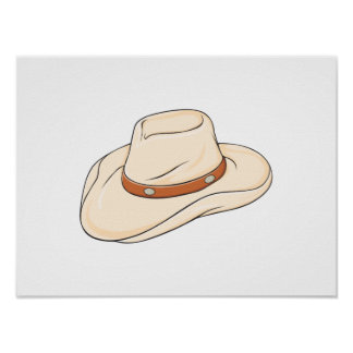 Custom Brown Bolo Cowboy Hat Playing Cards Pillows Posters