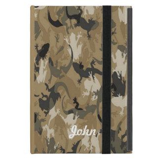 Custom Brown Reptile Camouflage iPad Mini Case