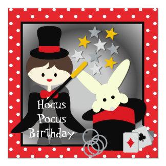 Custom Brunette Boy Hocus Pocus Birthday Invites