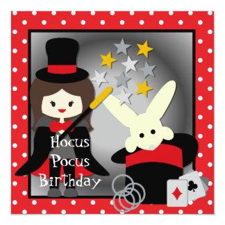 Custom Brunette Girl Hocus Pocus Birthday Invites