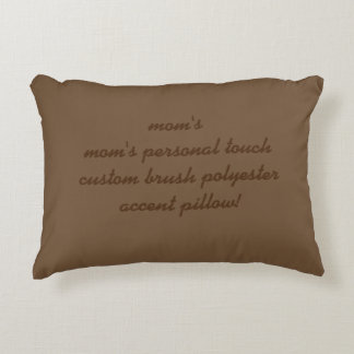custom brushed polyester accent pillow