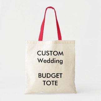 Custom Budget Tote Bag (RED Colour Handles)