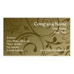 Custom Business Card, Chocolate Swirl Design