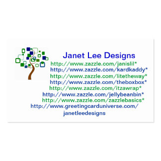 Custom Business Card With Tree Art
