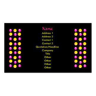 Custom Business cards Black with pink and yellow