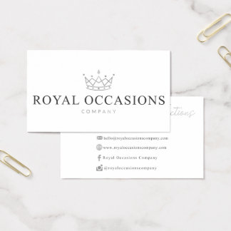 Custom Business Cards for Royal Occasions