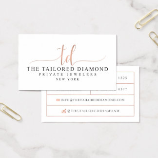 Custom Business Cards: The Tailored Diamond Business Card