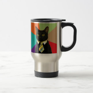 Custom Business Cat Travel Mug