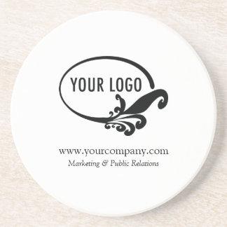 Custom Business Logo Sandstone Coaster