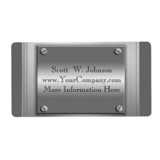 Custom Business Metal Look Labels
