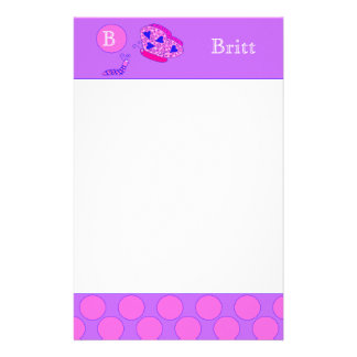 Custom Butterfly and Caterpillar Stationary Stationery