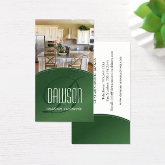 Custom Cabinet Maker Business Card
