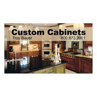 Custom Cabinets - Carpenter, Home Improvement Business Card Template