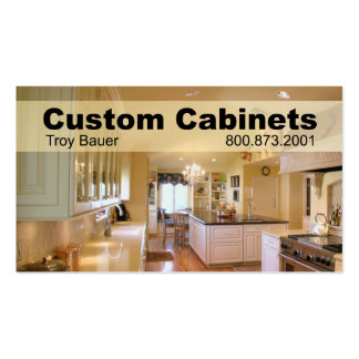 Custom Cabinets - Carpenter Home Improvement Business Card Templates