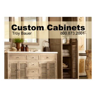 Custom Cabinets - Carpenter Home Improvement Business Cards