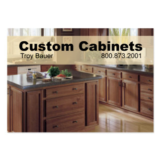 Custom Cabinets - Carpenter Home Improvement Business Card