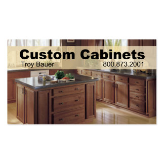 Custom Cabinets - Carpenter, Home Improvement Pack Of Standard Business Cards