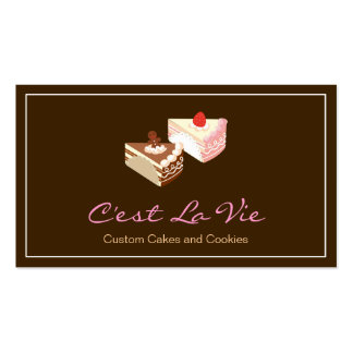 Custom Cakes and Cookies Dessert Bakery Shop Pack Of Standard Business Cards