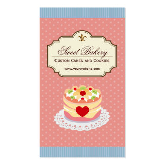 Custom Cakes and Cookies Dessert Bakery Store Pack Of Standard Business Cards
