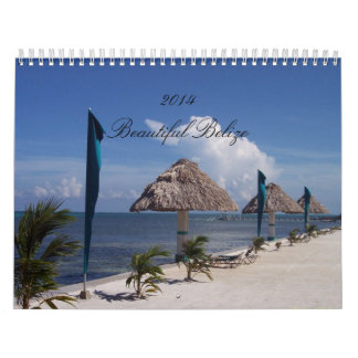 Custom Calendar featuring scenes from Belize.