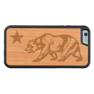 Custom California Flag Carved Cherry iPhone 6 Bumper Case