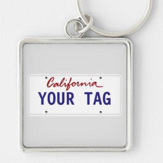 Custom California License Plate Key Ring