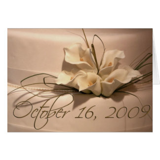 Custom Calla Lily Cake Card